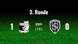 1.Auswärtsspiel wurde 0:1 verloren